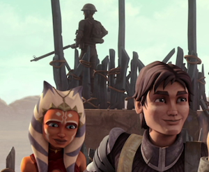 Ahsoka helps Lux train rebels on his home world of Onderon