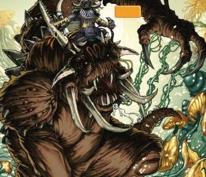 Felucian Rancor and Rider,