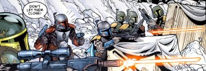 Mandalorians on Galidraan, from Jango Fett Open Seasons, Dark Horse Comics