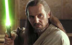 Qui-Gon prepares for battle.