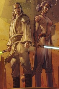 Qui-Gon Jinn and Tahl, Dark Horse's Dark Side Comic.