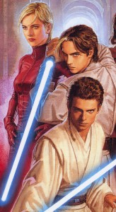 Jedi Master Siri Tachi with her apprentice, Ferus Olin and Anakin Skywalker