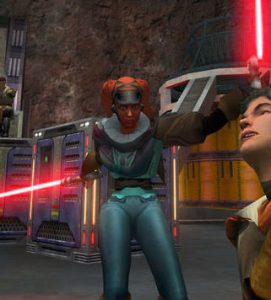 Alora vs Rosh in Jedi Academy Game