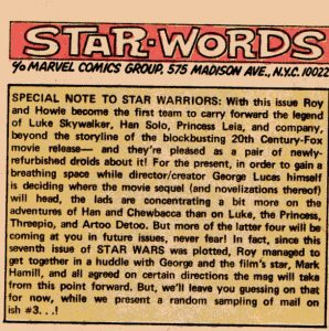 letter column star wars marvel 7- plans