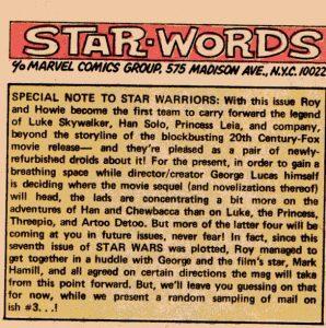 letter column star wars marvel 7- plans