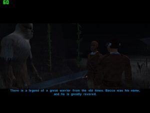 Wookiee Freyyr tells us the story of the great Hero 'Bacca' in KOTOR