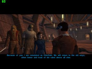 swkotor wookiee culture prioritizes kin and family: thanks to Zaalbaar and his family