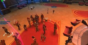 Nar Shaddaa Casino Peter Mayhew tribute w/ lots of Bowdaars swtor
