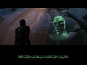 Shadows of the Empire Dash vs Xixor hologram