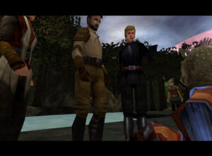 Jedi Academy game with Katarn, Luke Skywalker and Jaden Korr (rodian male version)